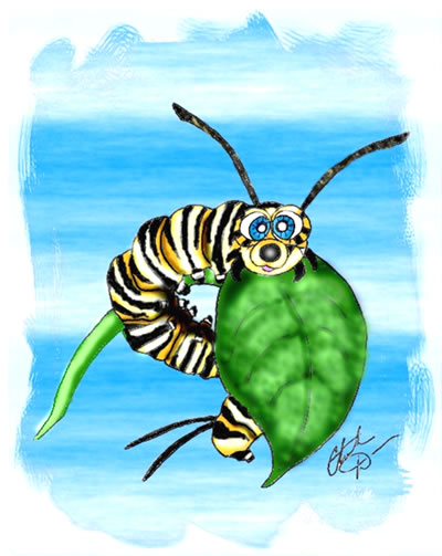 Monarch caterpillar clip art